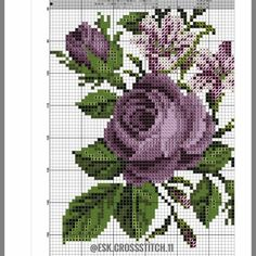 Cross Stitch Rose, Cross Stitch Flowers, Graphic Design Portfolio Examples, Seaside Art, Punch Needle Patterns, Coming Up Roses, Beaded Bags, Small Flowers, Embroidery Patterns