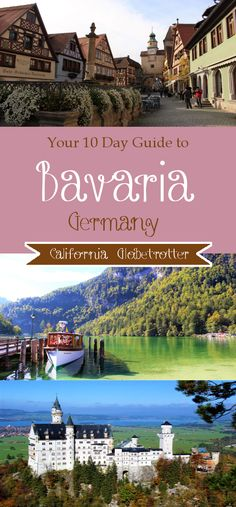 Your 10 Day Guide to Bavaria Your 10 Day Travel Guide to Bavaria Germany California Globetrotter The post Your 10 Day Guide to Bavaria appeared first on Deneme. The Places Youll Go, Places To Visit, Romantic Road, Germany Castles, Neuschwanstein Castle, Reisen In Europa, Destination Voyage, Europe Destinations, Romantic Destinations