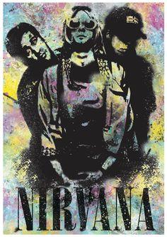 Nirvana Grunge Poster by ExtremepandaDesign on Etsy
