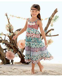 bohemian floral girls dress