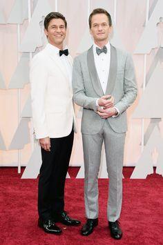 David Burtka and Neil Patrick Harris in Brunello Cucinelli. Photo: Jason Merritt/Getty Images