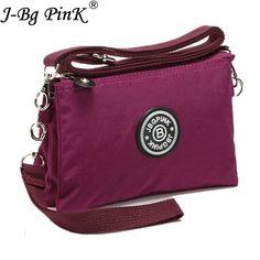 ddad321374c4 J-BG розовый клатч женские сумки через плечо Повседневная Mini Crossbody сумка  для девочки водонепроницаемый