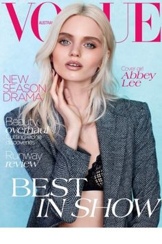 Australia August 2012 - Abbey Lee Kershaw by Nicole Bentley Vogue Magazine Covers, Fashion Magazine Cover, Fashion Cover, Vogue Covers, Love Fashion, Sophisticated Hairstyles, Abbey Lee Kershaw, Hype Hair, Paris Model