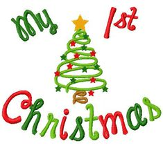 Christmas Embroidery Design My 1st Christmas My by DazzlinStitches