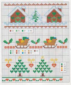Новогодние схемы вышивки крестом. Схемы вышивки для Нового года / Мастер-класс