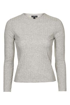 PETITE Round Neck Ribbed Top - Topshop