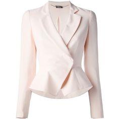 ALEXANDER MCQUEEN wrap blazer is divine in pastel pink