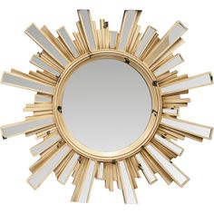 Look what I found on Wayfair! KoleImports Sunburst Mirror with Inlaid Ray Oversized Wall Mirrors, White Wall Mirrors, Lighted Wall Mirror, Rustic Wall Mirrors, Framed Wall, Round Hanging Mirror, Sunburst Mirror, Home Decor, Living Room