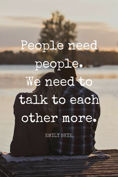 """People need people. We need to talk to each other more."" - Top Fitness Model Emily Skye quote on relationships on the School of Greatness podcast"