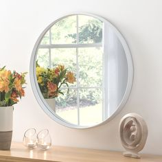 View Malaga Deep Circular White Mirror product from Soraya Interiors UK, See more products like this and more wall mirror categories Cheap Mirrors, Mirrors For Sale, Round Mirrors, Hallway Mirror, White Wall Mirrors, Framed Mirrors, Living Room Mirrors, Bedroom Mirrors, Illuminated Mirrors