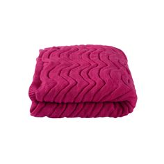 Kas Wavey Knitted Throw, Pink | ACHICA