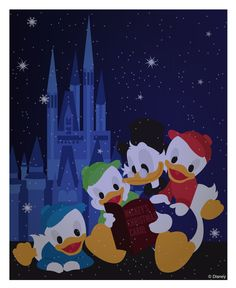 Christmas snow at the Magic Kingdom park: Perfect as a filler card for Disney and Project Life or Pocket scrapooking. Print it out, use digitally, or download to your phone to use in the Project Life app. See more info: http://capturingmagic.me/DisneyProjectLife