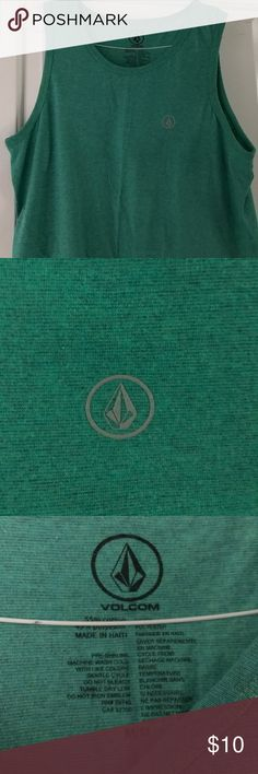 Green Volcom Summer Tank Top WORN ONCE Worn once Volcom Shirts Tank Tops