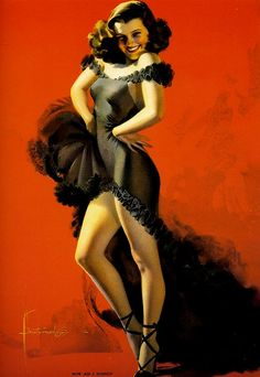 How Am I Doing by Rolf Armstrong - vintage pinup