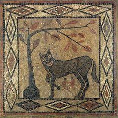 Wolf Mosaic, Aldborough Roman Town, Yorkshire, 300 AD.