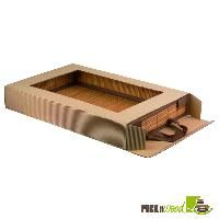 Brown Cardboard Box with See through Window - 25 pcs/case