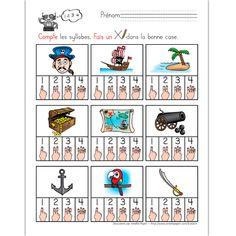 Les syllabes, thème des pirates