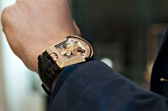 watchanish:    Meanwhile…in New Bond Street  Pic by me, watch by Urwerk (courtesy of Marcus), wrist by Adam