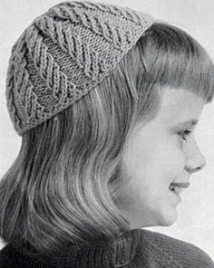 NEW! Cap knit pattern from Fashions & Fun for the Almost Teens, Bernat Handicrafter Book No. 59 from 1957.