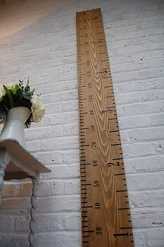Kids Rule Wooden Ruler Height Chart. (Even fun just as a decorative piece in a home!)