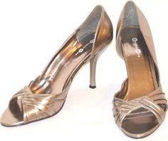 Sz 10 Silver Metallic  StudioHD2 Stilettos For Special Ocassions Party  Cruises #Madewell #Stilettos