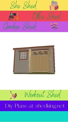 Easy Diy she shed building for your private little get away, your garden shed, a nifty craft studio shed, workout shed, office shed, potting shed, or sewing shed. Get easy to use she shed building plans that come complete with building guide, materials list, and email support.