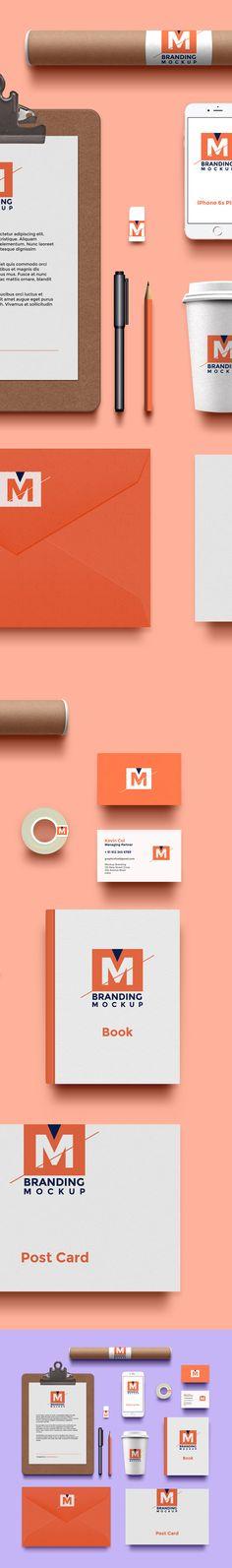 Branding Identidad maqueta PSD