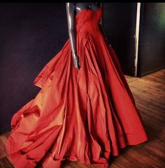A #red #gown in the #zacposen office!