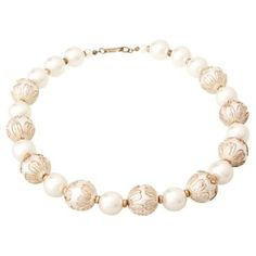 Check out this item at One Kings Lane! Miriam Haskell Faux-Pearl Necklace