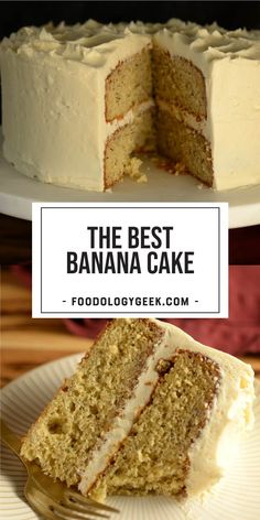 The Best Banana Cake This recipe is the result of much trial and error behind the effort to replicate the famous banana cake from Icing on the Cake. My family approves. They say that they actually like mine better. Dessert Cake Recipes, Just Desserts, No Bake Desserts, Delicious Desserts, Yummy Food, Baking Desserts, Tasty, Food Cakes, Cupcake Cakes