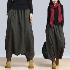 Women Pants 2016 Linen Casual Pants Personality Loose Harem
