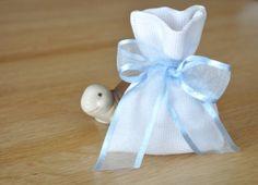 Cotton babyboy shower favor bagwhite by manufattofattoamano, €4.60