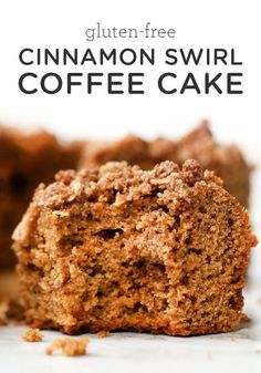 This Cinnamon Swirl Gluten-Free Coffee Cake is the perfect easy breakfast or brunch recipe! Made with healthy ingredients like coconut flour, has the BEST crumb topping, and is great for serving to a crowd! Brunch Recipes, Breakfast Recipes, Dessert Recipes, Breakfast Cookies, Quinoa Desserts, Healthy Desserts, Healthy Recipes, Vegetarian Recipes, Sweet Recipes