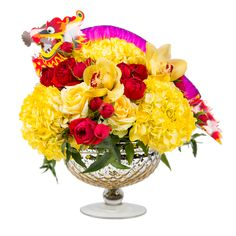 Chinese New Year, Year of the Dragon, DIY Flower arrangements