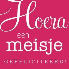 Hoera, een meisje (Copyright www.kaartenbakker.nl)