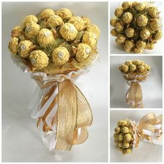 Items similar to Ferrero Rocher candy bouquet sweet gift flowers chocolate Birthday, Wedding, Love, Anniversary Candy arrangement Candy bouquet Candy gift on Etsy Chocolate Tree, Chocolate Gifts, Ferrero Rocher Chocolates, Ferrero Rocher Bouquet, Food Bouquet, Candy Bouquet, Boquet, Diy Crafts, Gift Ideas