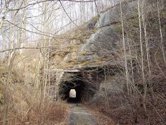 Kings Hollow Tunnel, an abandoned train tunnel in Vinton county.