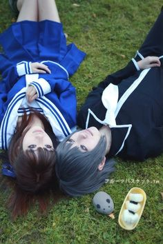 Tohru Honda and Yuki Sohma - Fruits Basket Fruits Basket Cosplay, Fruits Basket Anime, Halloween Cosplay, Cosplay Costumes, Cosplay Ideas, Cosplay Makeup, Anime Cosplay, Yuki Sohma, Princess Jellyfish