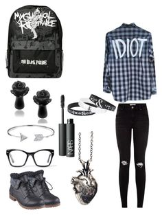 """My First Day Of School"" by justanotherpunkfashionist ❤ liked on Polyvore featuring moda, Misbehave, Refresh, Spitfire, Bling Jewelry e NARS Cosmetics"