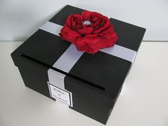 YOU CUSTOMIZE Black Wedding Card BoxShown with by astylishdesign, $55.00