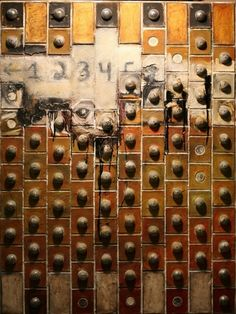 "Saatchi Online Artist: John McCaw; 2010, Mixed Media ""Encrypted"""
