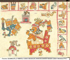 Trecena: 1-VIENTO - Códice Vaticanus B, lámina 66 (también llamado Códice Vaticanus 3773). [Del 18 al 30 de Diciembre del 2015]