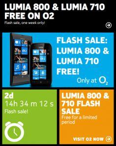 Nokia Lumia 800 and 710 free on O2 UK (limited time).    #UK #Nokia #Lumia800 #Lumia710 #O2