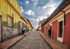 Bogota centro: DowntownTilted coorful streets