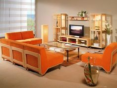 Small Living Room Designs with Solid Wooden Sofa Sets
