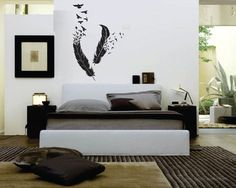 AMAZING FEATHERS WALL Decal by KeepItMello on Etsy