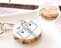 Koala Wooden Keychain Adorable Gift Couple Best by HappyCatPrints, $20.00