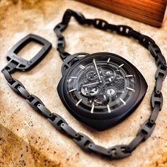 watchanish: Panerai PAM00446 Ceramic Tourbillon pocket watch via verone24.LiveFeed
