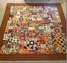 rosemary youngs' quilt from orphan blocks. Sampler Quilts, Scrappy Quilts, Missouri Quilt, Barn Quilt Patterns, Civil War Quilts, Country Quilts, House Quilts, Quilt Tutorials, Square Quilt