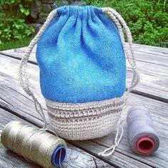#bolsita #crochet#lona#crochetaddict#ganchillo | por María Tenorio